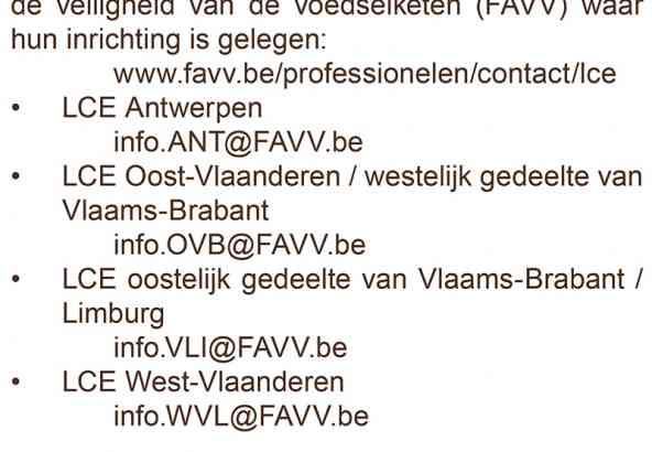 Favv met LCE's