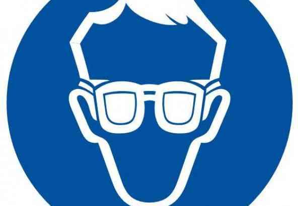 Logo Veiligheidsmaatregel Bril