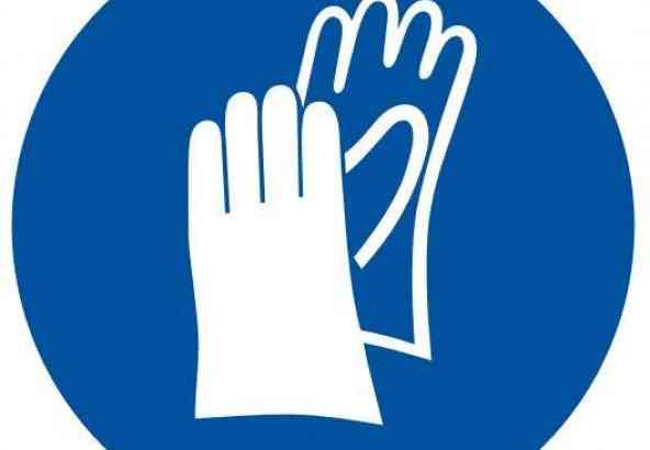 Logo Veiligheidsmaatregel Handschoenen