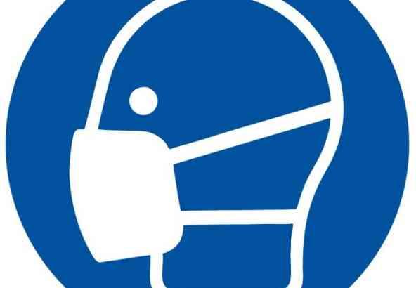 Logo Veiligheidssymbool Gezichtsmasker