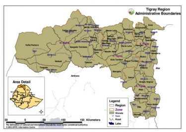 Map Of Tigray Region