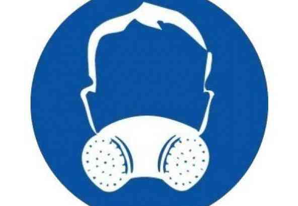 Veiligheidssymbool Gasmasker
